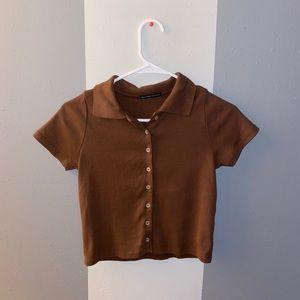 Brandy Melville button down t-shirt!